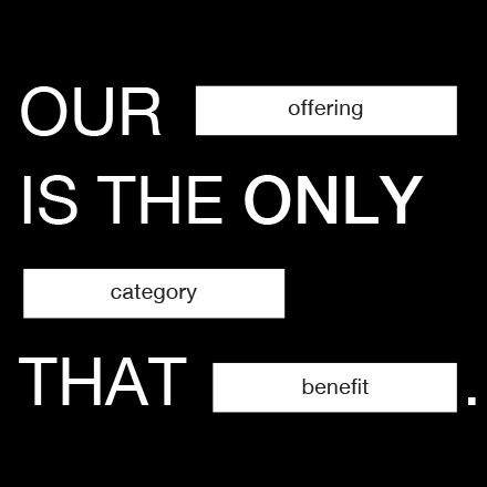 Our offering is the only category that benefit