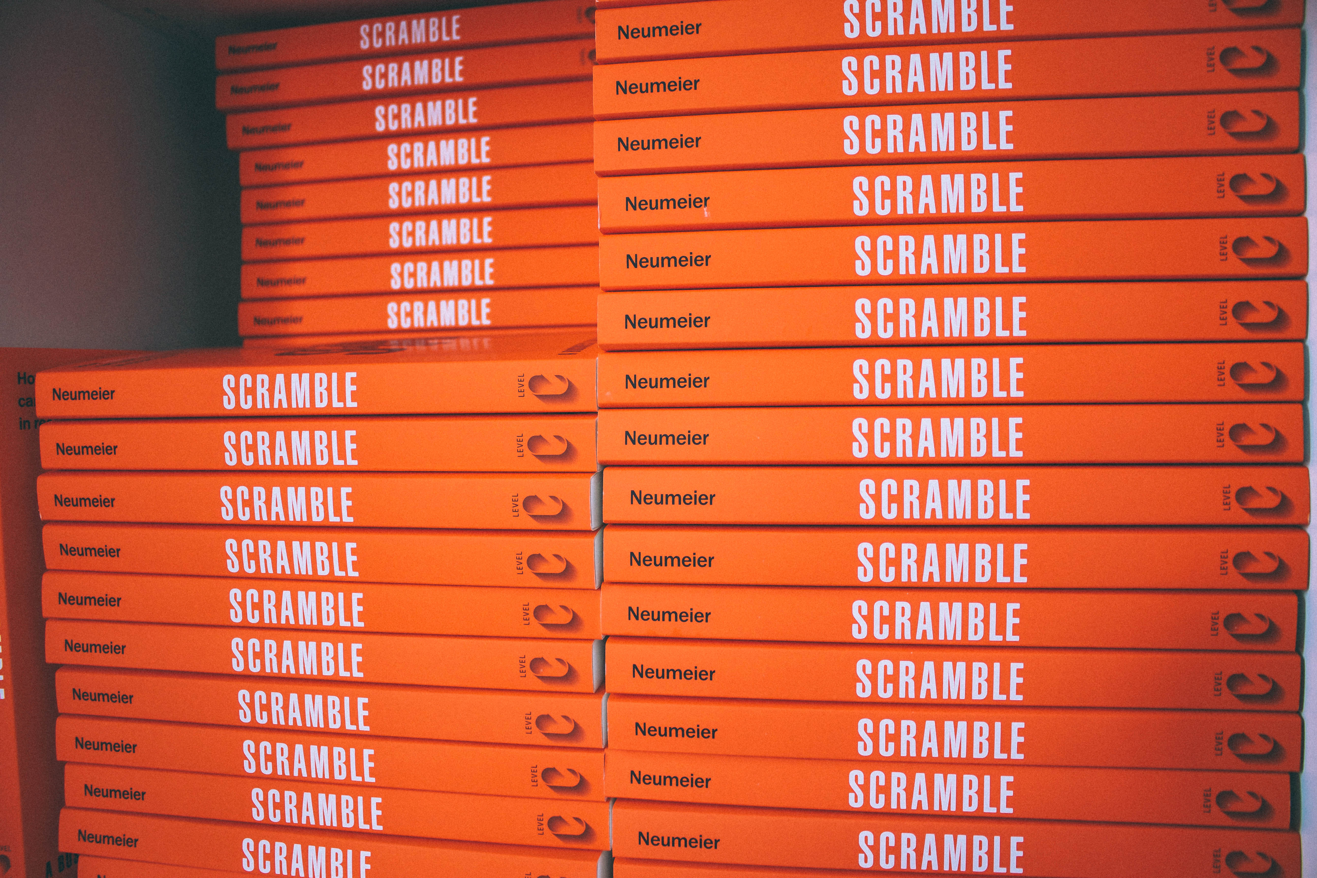 scramble book stack