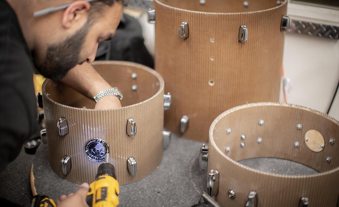 ernest cardboard drums web photos
